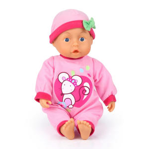 first words baby 28 cm roze