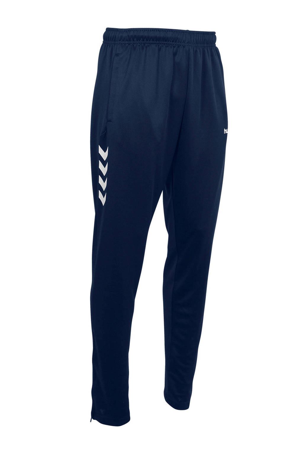 hummel   sportbroek Valencia, Donkerblauw/wit, Heren