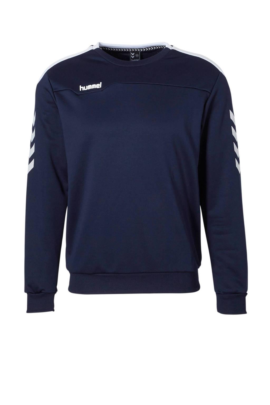 hummel   sportsweater donkerblauw, Donkerblauw/wit, Heren