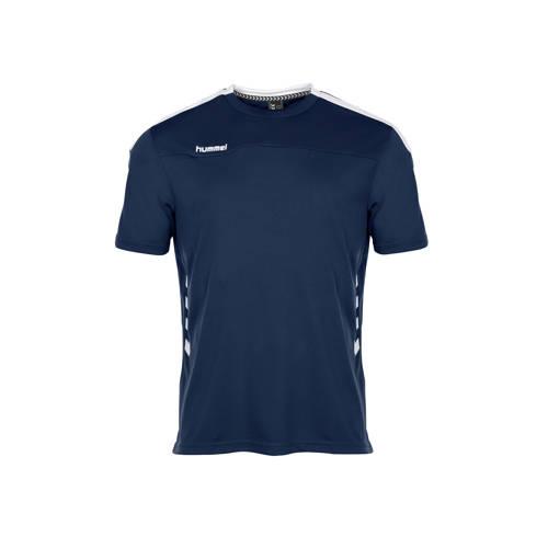 hummel sport T-shirt donkerblauw