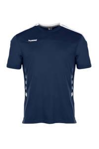 hummel   sport T-shirt donkerblauw, Donkerblauw/wit, Heren