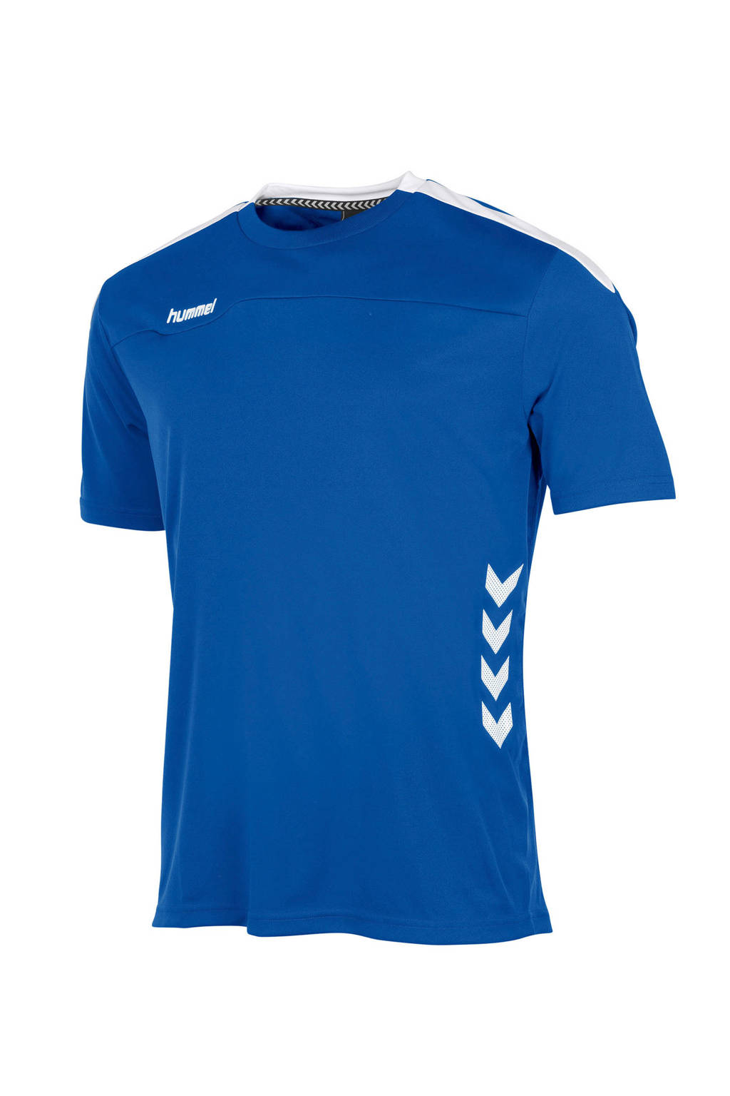 hummel   sport T-shirt blauw, Blauw/wit