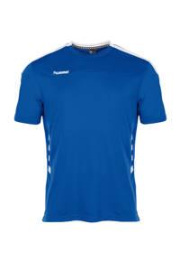 hummel   sport T-shirt blauw, Blauw/wit, Heren