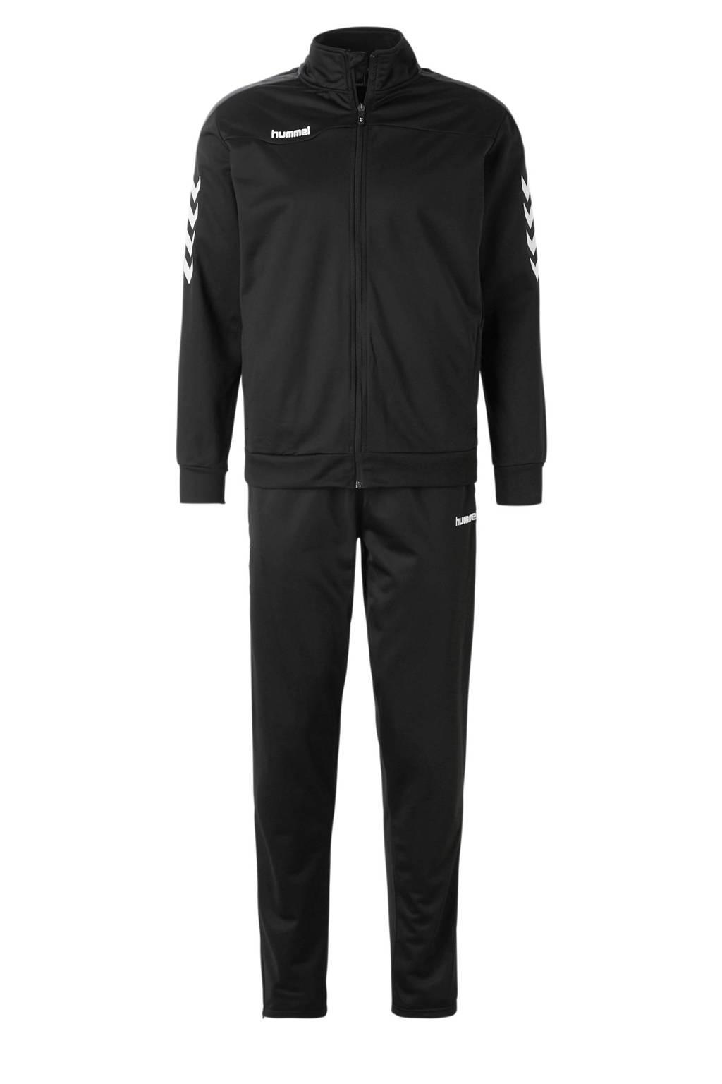 hummel   Valencia trainingspak zwart, Zwart/wit, Heren