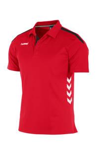 hummel   sportpolo, Rood/wit/zwart