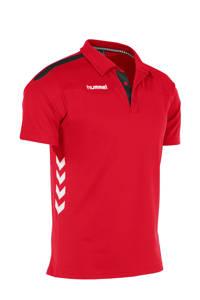 hummel   sportpolo rood/wit/zwart, Rood/wit/zwart
