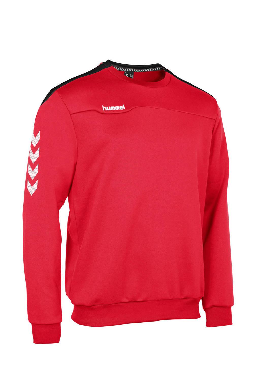 hummel   sportsweater rood, Rood/zwart/wit