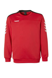 hummel   sportsweater rood, Rood/zwart/wit, Jongens