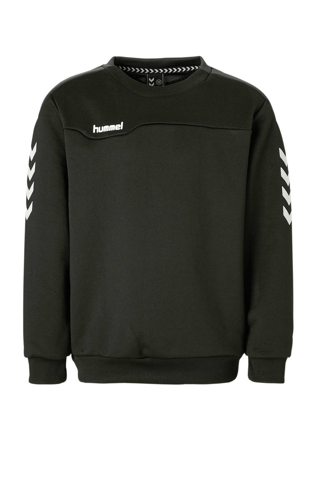 hummel   sportsweater zwart, Zwart/wit, Jongens