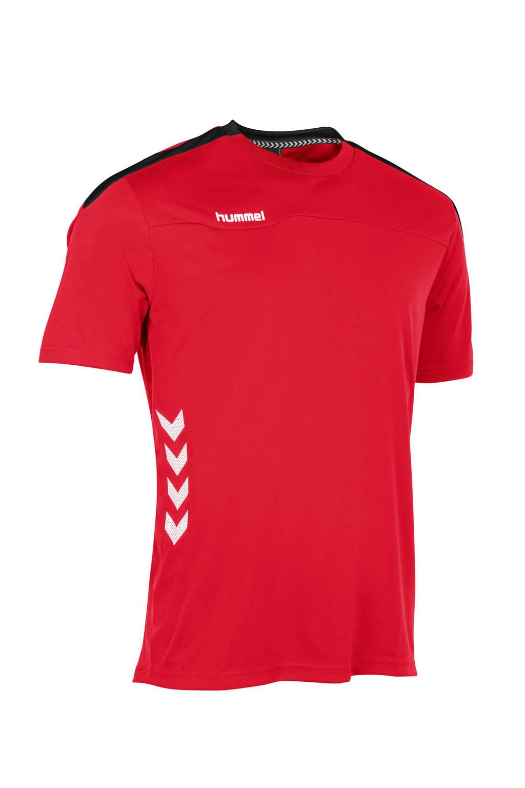 hummel   sport T-shirt rood, Rood/wit/zwart, Jongens