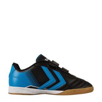 Saga JR IN indoor voetbalschoenen blauw/zwart