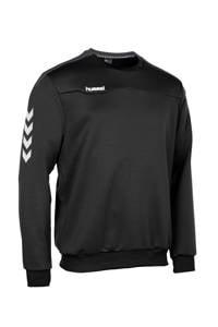 hummel   sportsweater zwart, Zwart/wit