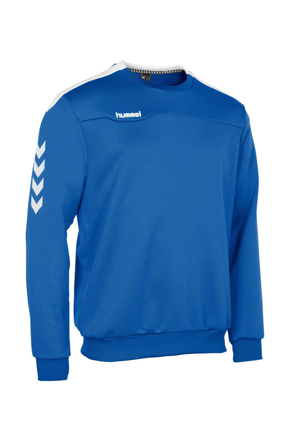 hummel   sportsweater blauw, Blauw/wit, Jongens
