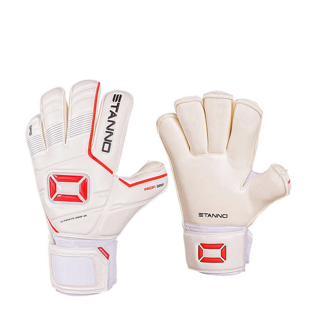 Stanno   008 Junior keepershandschoenen, Wit/rood