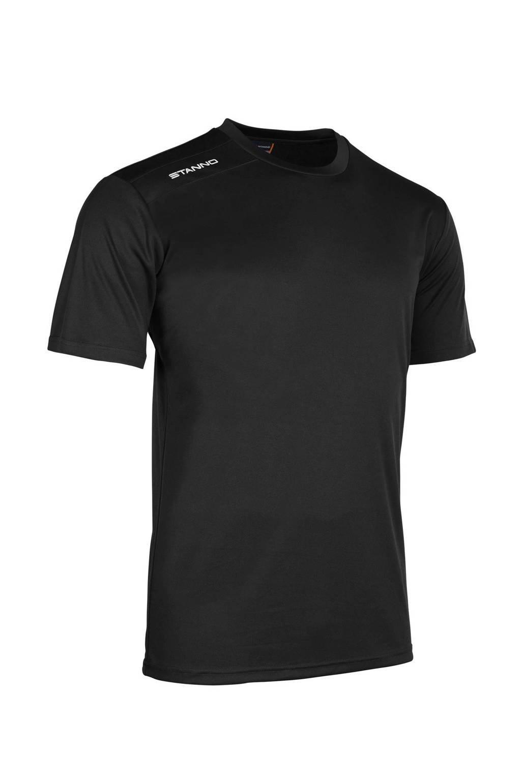 Stanno Junior  sport T-shirt zwart, Zwart/wit
