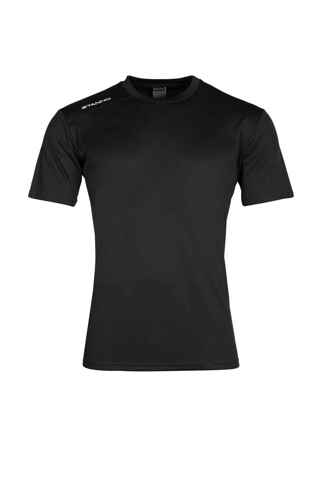 Stanno Junior  sport T-shirt, Zwart/wit, Jongens