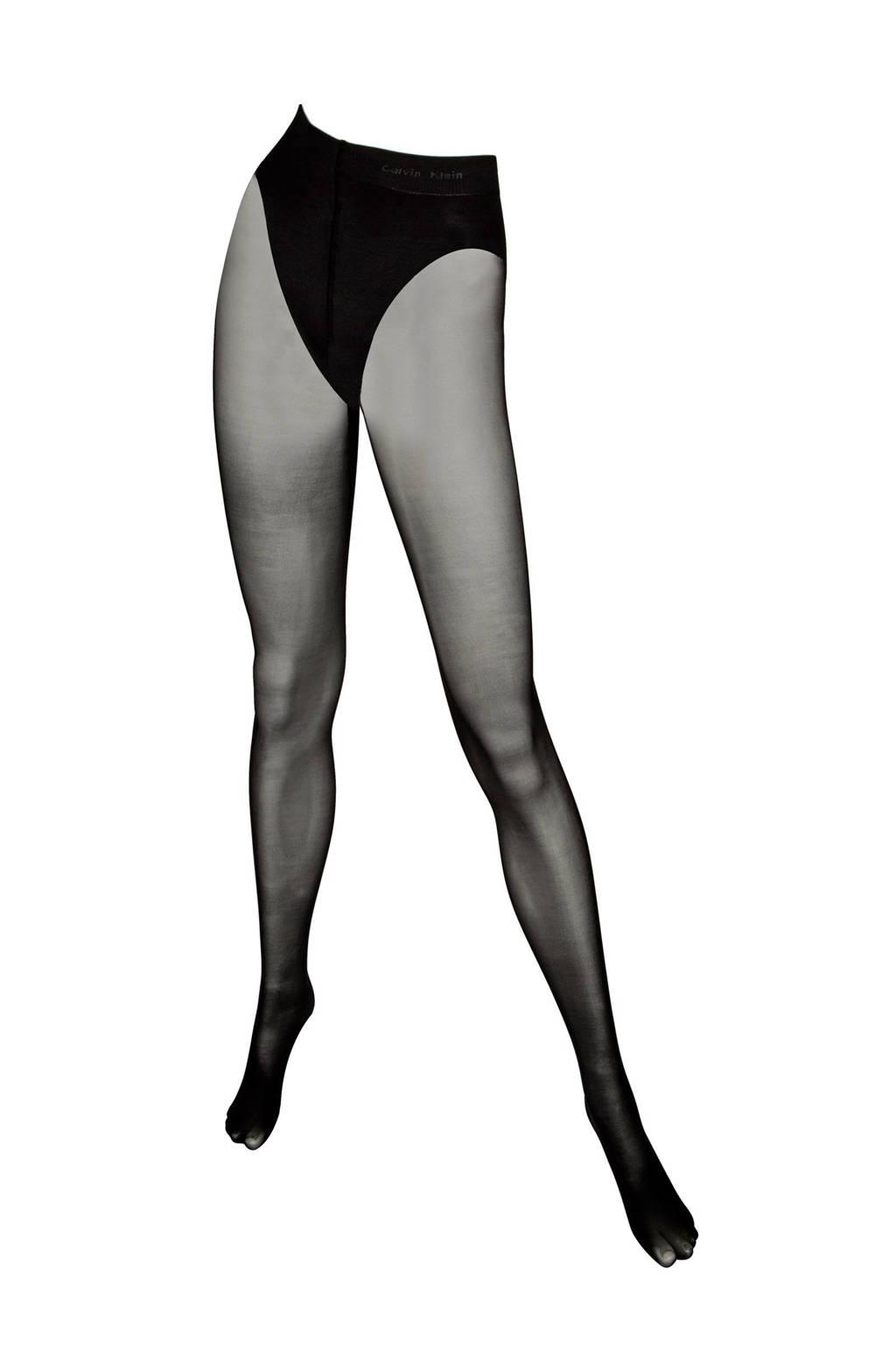 Calvin Klein corrigerende panty 40 denier, Zwart
