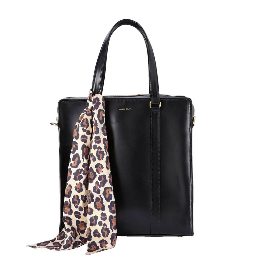 Fabienne Chapot  leren laptoptas Louisa Business Bag 13 inch, Zwart