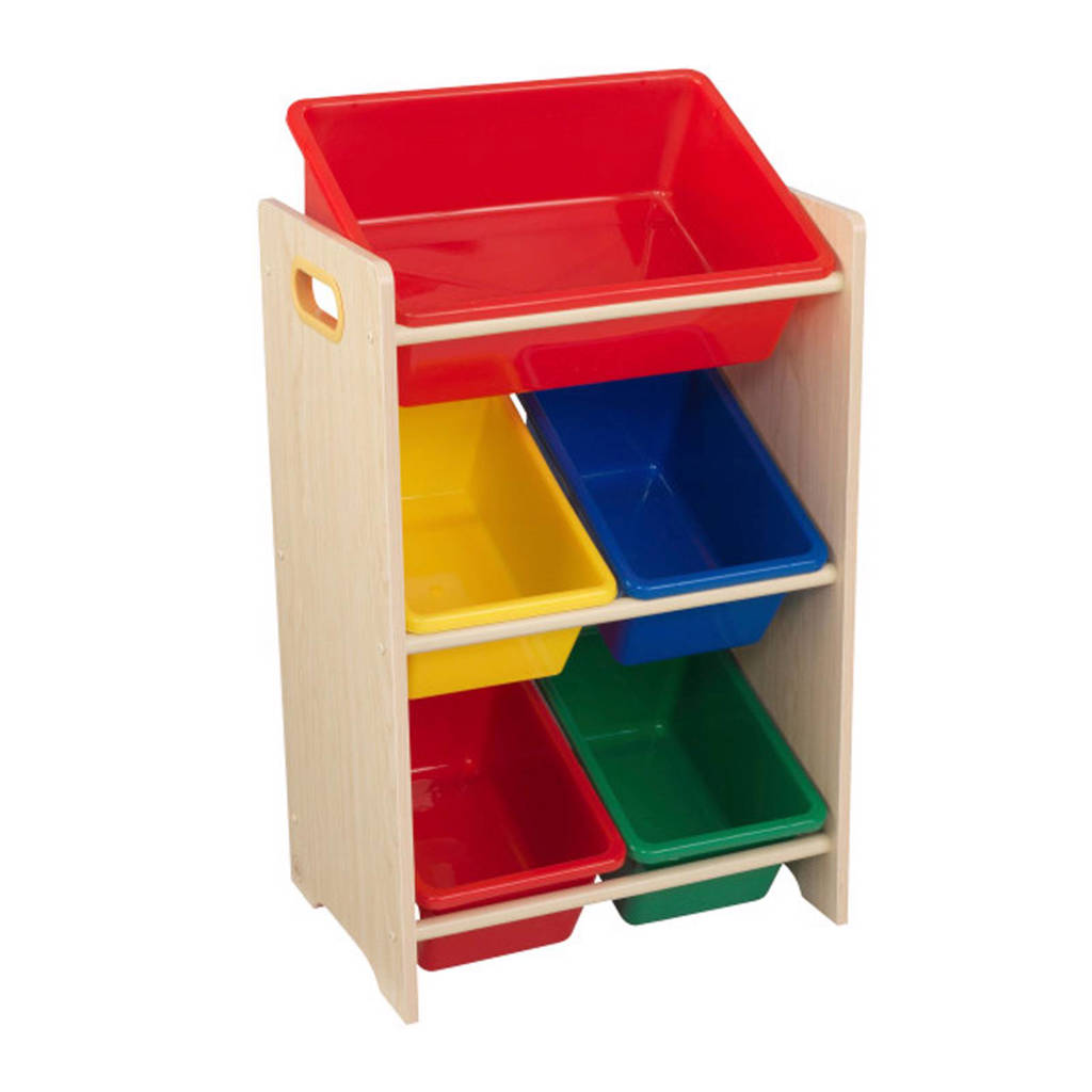 KidKraft opbergkast, Hout/rood,geel,blauw,groen