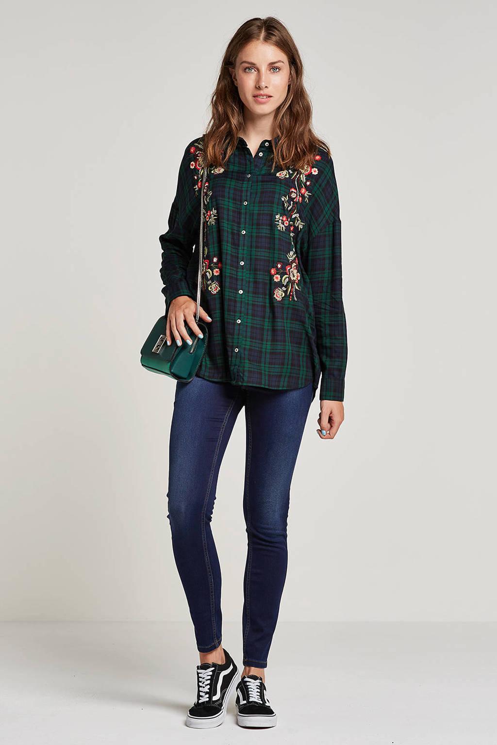 VERO MODA slim fit jeans donkerblauw, Donkerblauw