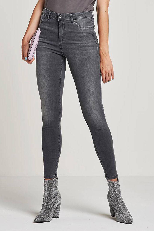 VERO MODA high waist skinny jeans VMSOPHIA dark grey denim, Grijs