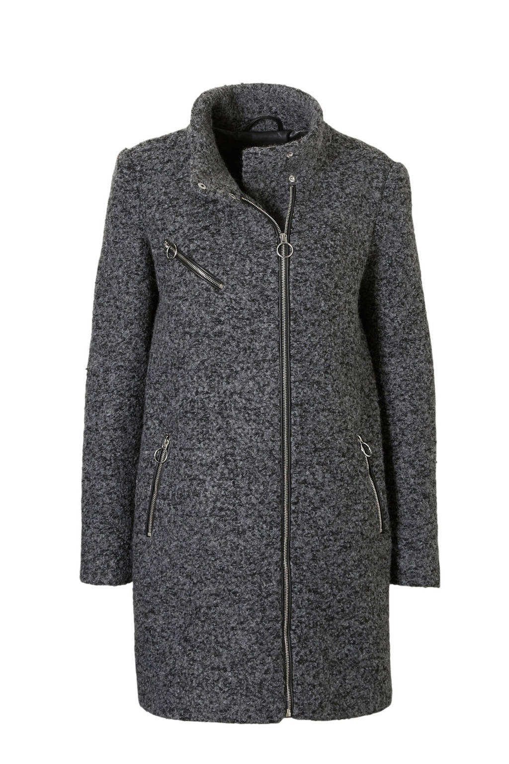 VERO MODA coat, Grijs/zwart