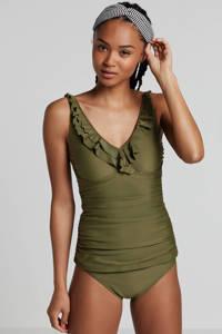 whkmp's beachwave bikinibroekje gevoerd groen, Groen