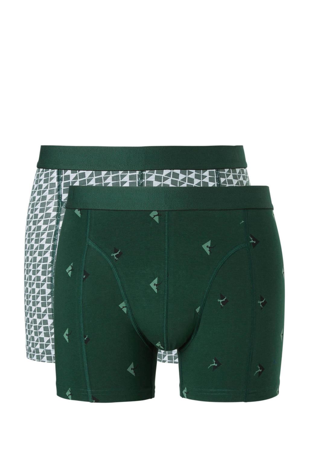ten Cate boxershort (set van 2), Groen/grijs