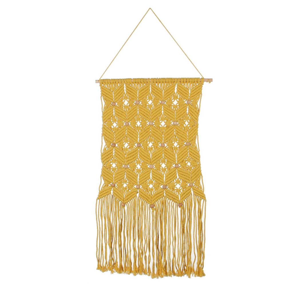 Casa Vivante wandkleed Zena (80x40 cm), Geel