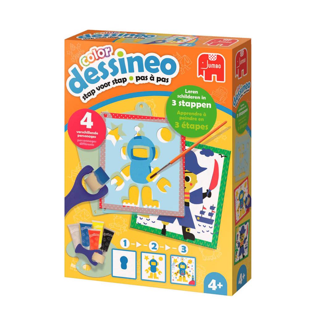 Jumbo  Dessineo color schilderen met sjablonen - personages