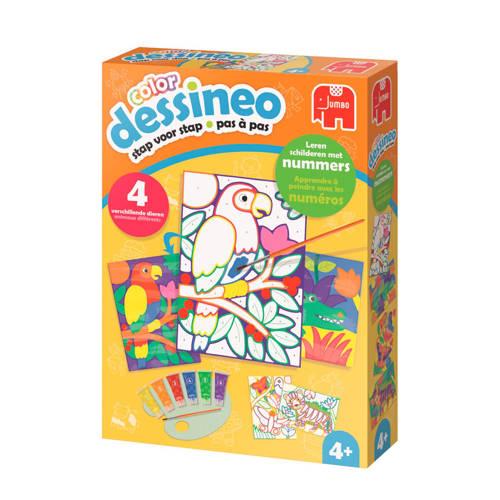 Jumbo Dessineo color schilderen op nummer - jungle kopen