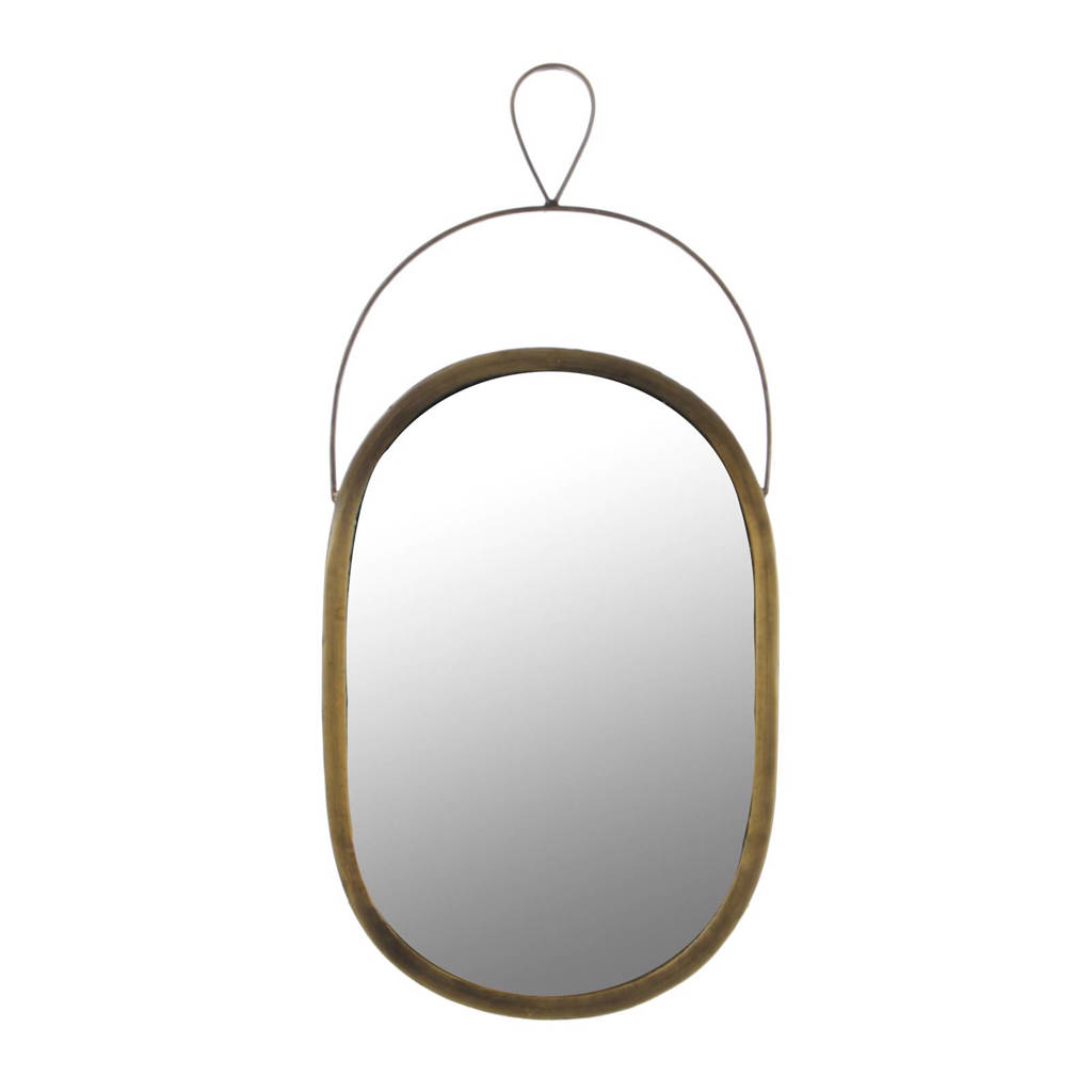 Casa Vivante spiegel Nanne (23x48 cm), Bruin