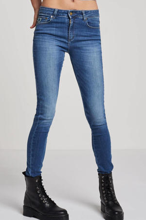 high waist skinny jeans met printopdruk double stone