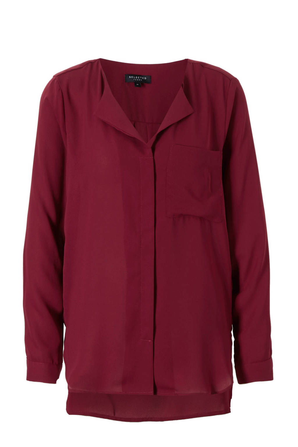 SELECTED FEMME blouse, Donkerrood