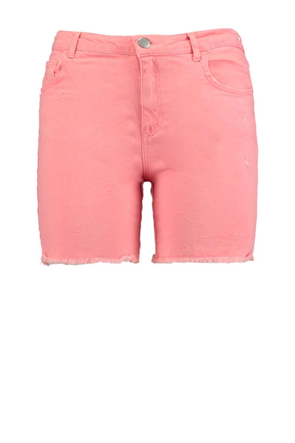 MS Mode korte broek met slijtage lichtroze, Lichtroze