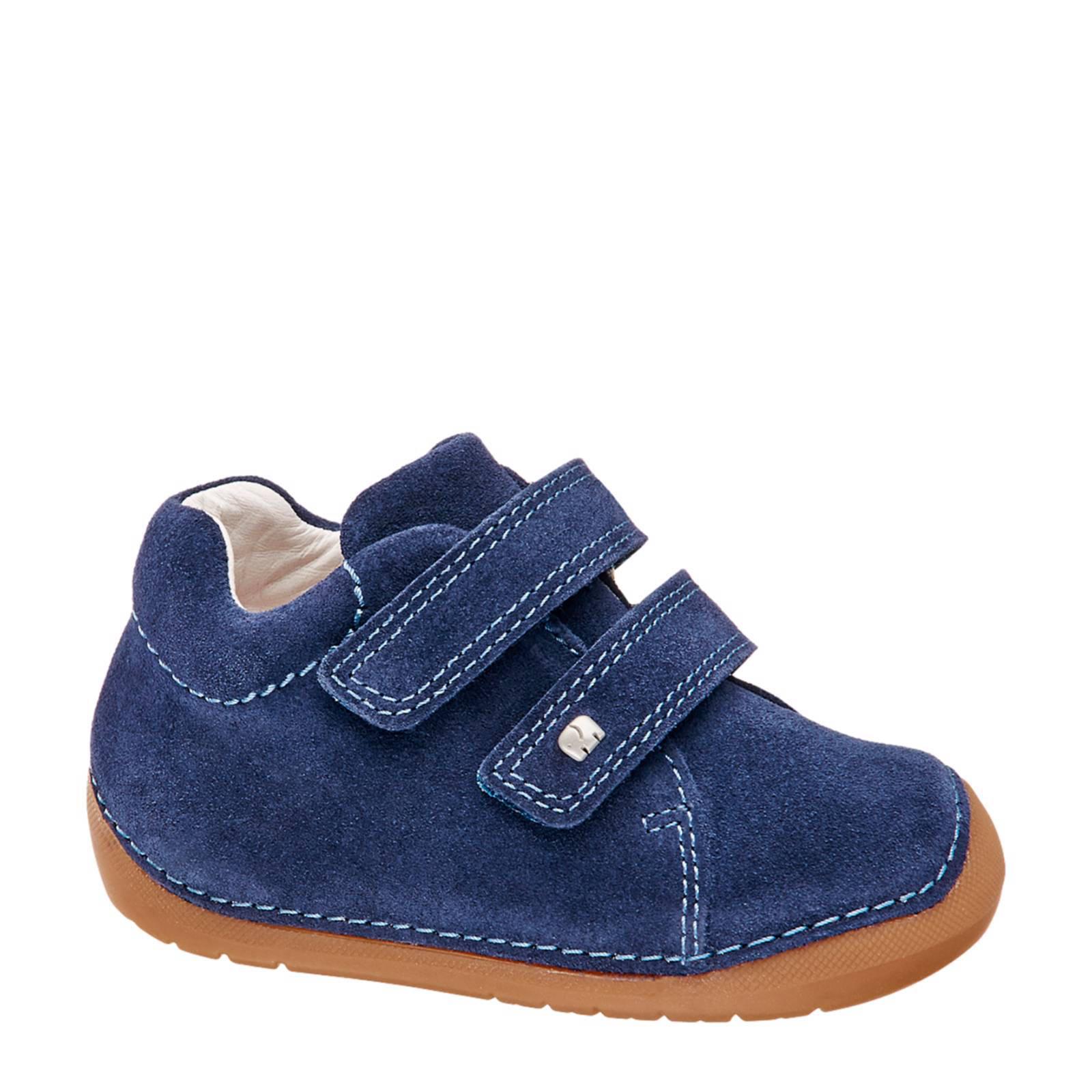 vanHaren - Elefanten suède sneakers donkerblauw jongens