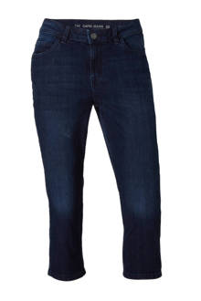 The Denim slim fit capri jeans donkerblauw