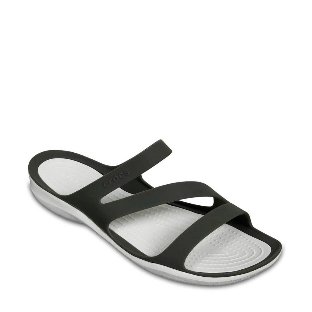 Crocs   Swiftwater slippers antraciet, Antraciet