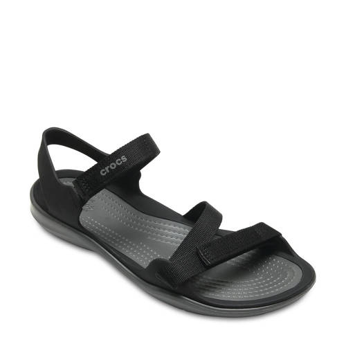 Crocs Instappers Zwart Swiftwater Webbing
