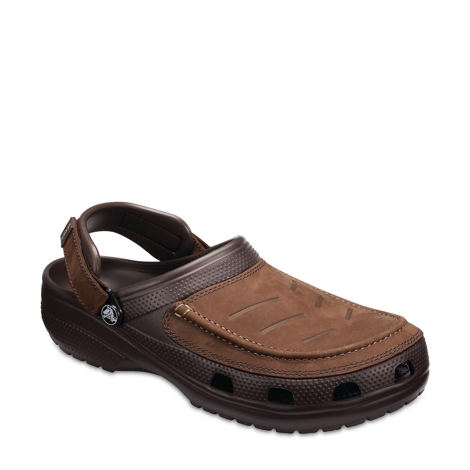Chaussures Crocs Marron Avec Des Hommes De Fermeture Velcro RDSGL