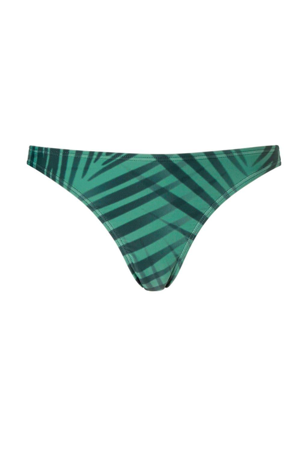 whkmp's beachwave bikinibroekje in een all over print groen, Groen