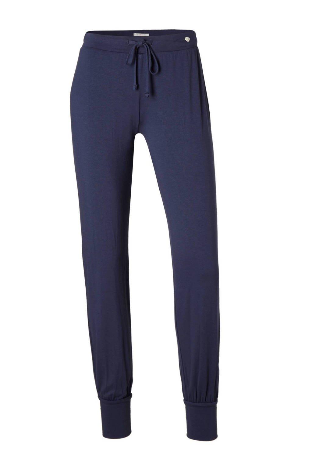 ESPRIT pyjamabroek viscose blauw, Blauw