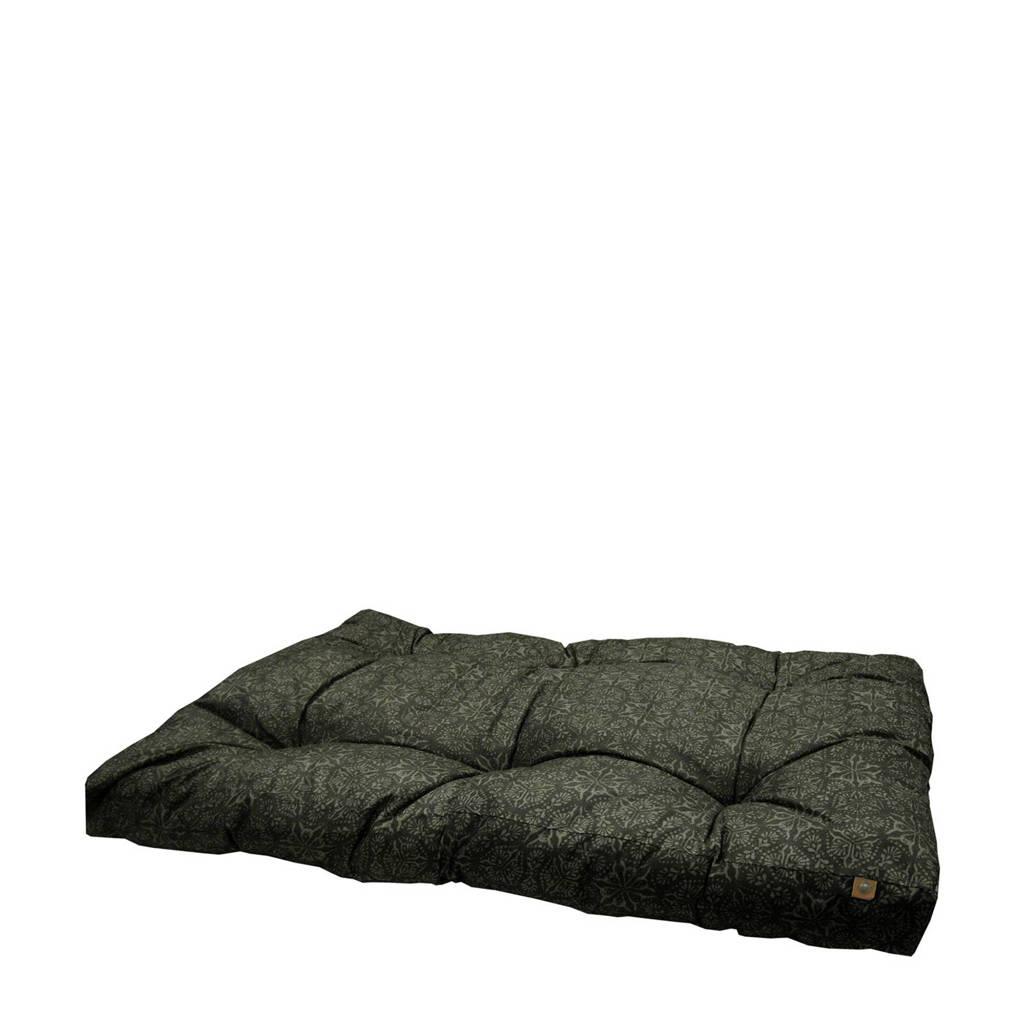 OVERSEAS hondenkussen (L), Zwart met grijze opdruk