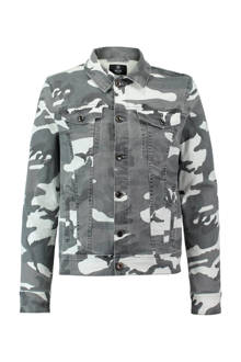 spijkerjas camouflageprint
