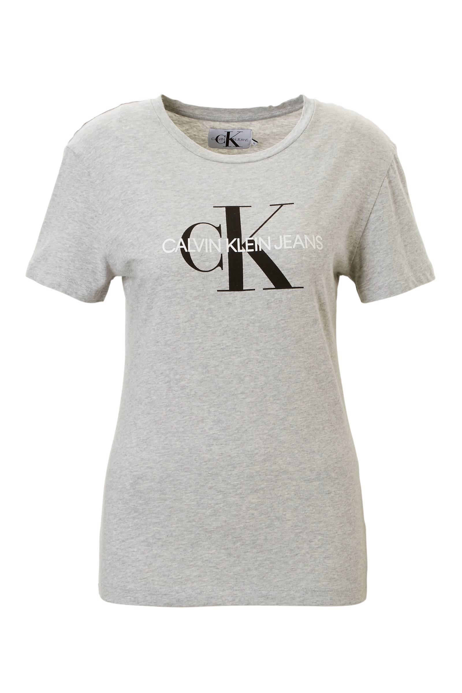 calvin klein shirt dames grijs