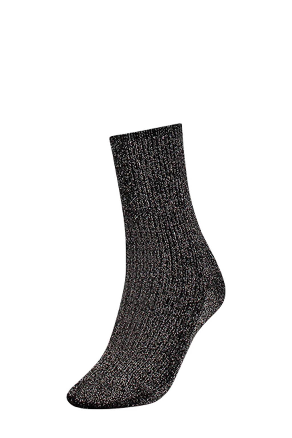 Tommy Hilfiger glitter sokken, Zwart