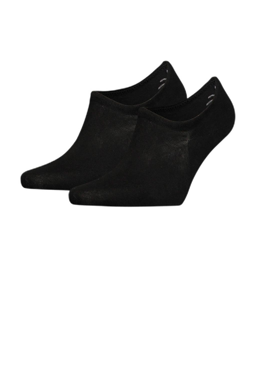 Tommy Hilfiger no-show sneaker sokken (2 paar), Zwart