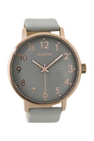 leren horloge C9400 grijs