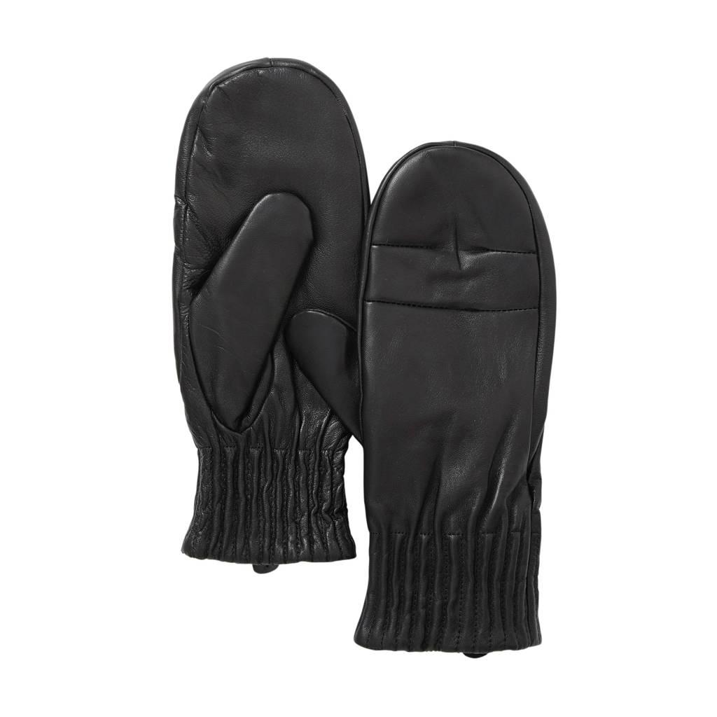 OBJECT leren handschoenen, Zwart
