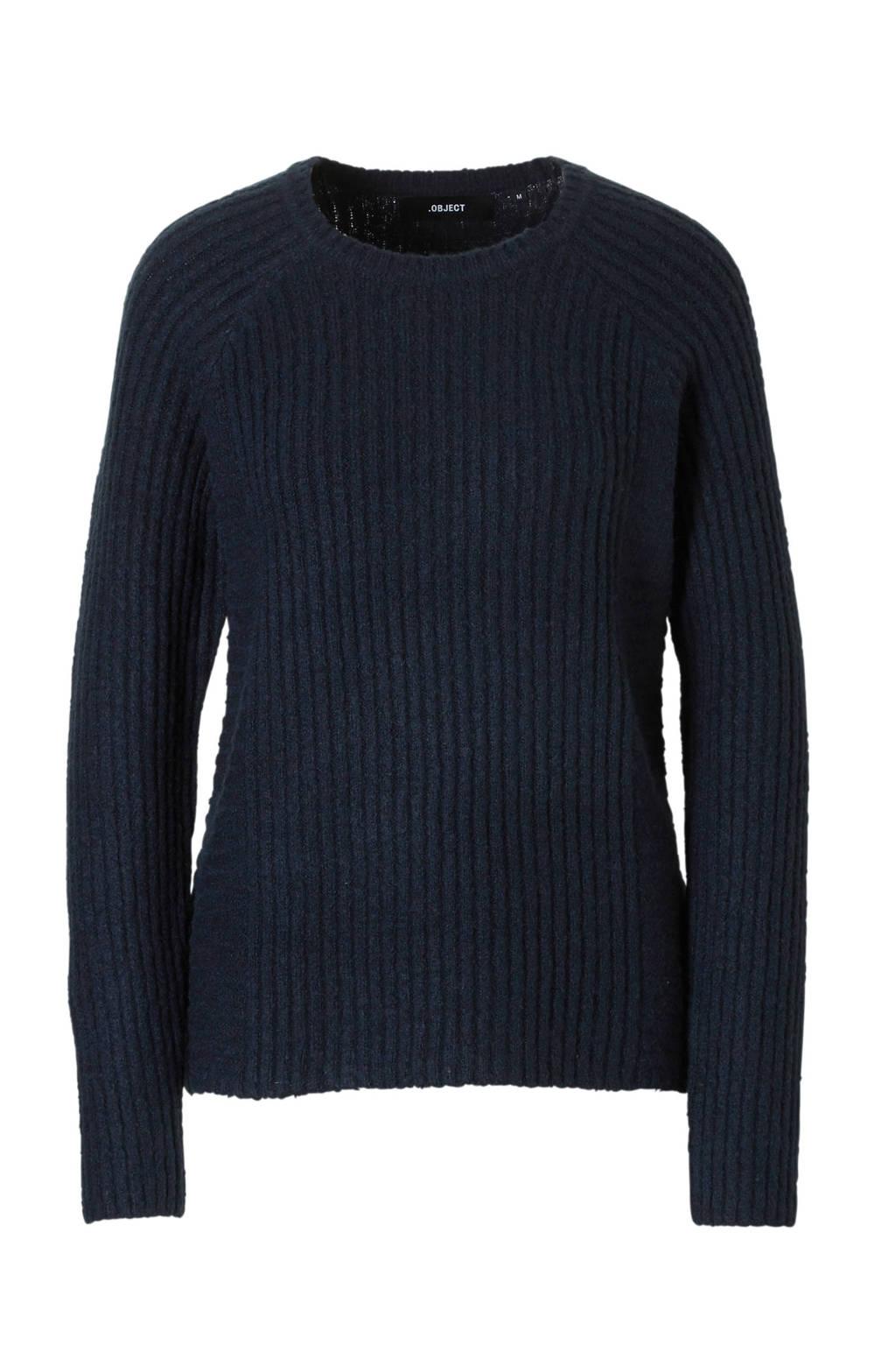 OBJECT trui, Donkerblauw